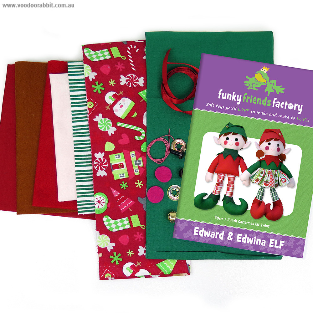 Funky Friends Factory Christmas Elf Toy Making Kit