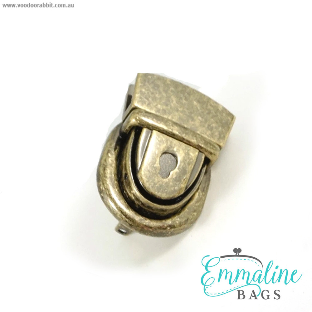 Emmaline Bags Press Lock Antique Brass