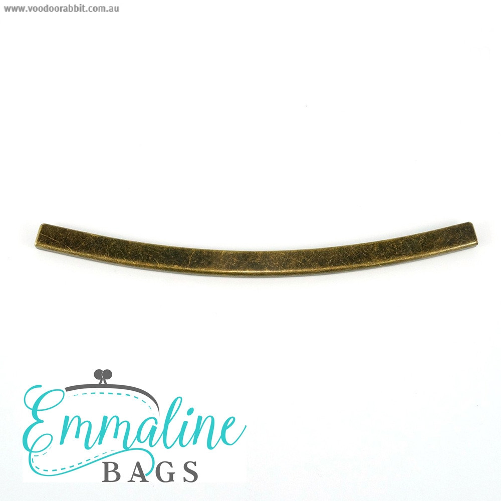 Emmaline Bags Metal Edge Trim: Style D - Curved Antique Brass