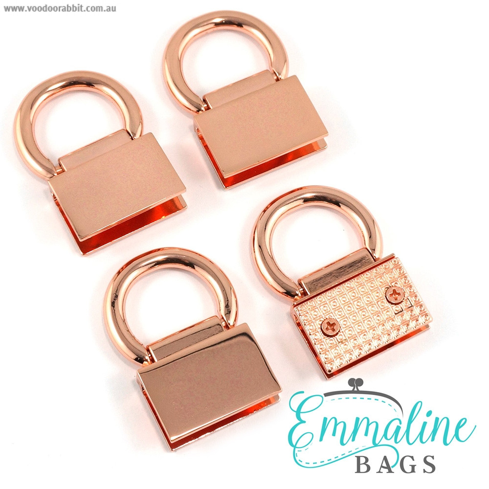 Emmaline Bags Strap Anchor Edge Connector Copper (Rose Gold) (4 pack)