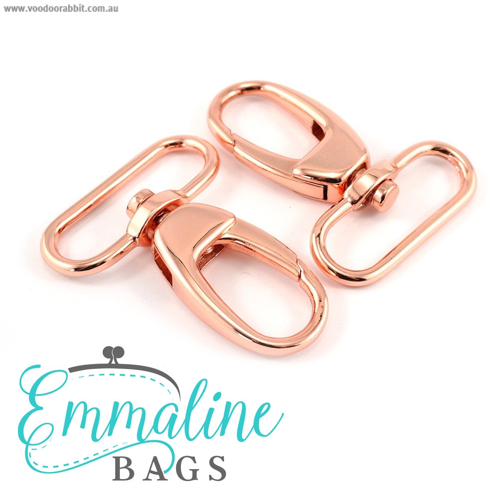 "Emmaline Bags Swivel Snap Hook 40mm (1-1/2"") Copper (Rose Gold) - 2pk"