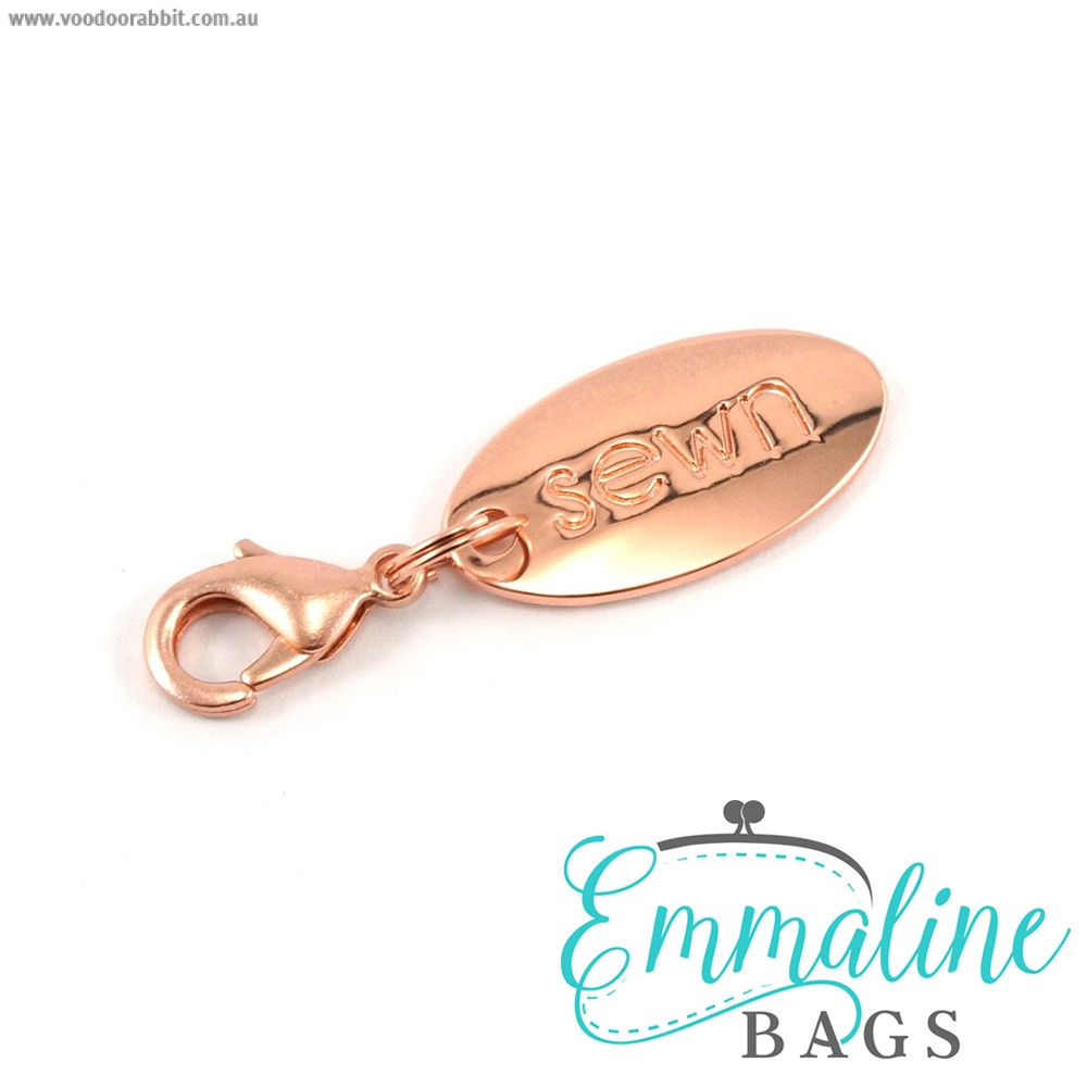 Emmaline Bags Zipper Pull: Sewn Copper (Rose Gold)