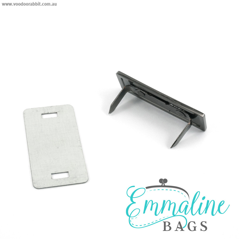 Emmaline Bags Metal Bag Label: Handmade with Bird Gunmetal