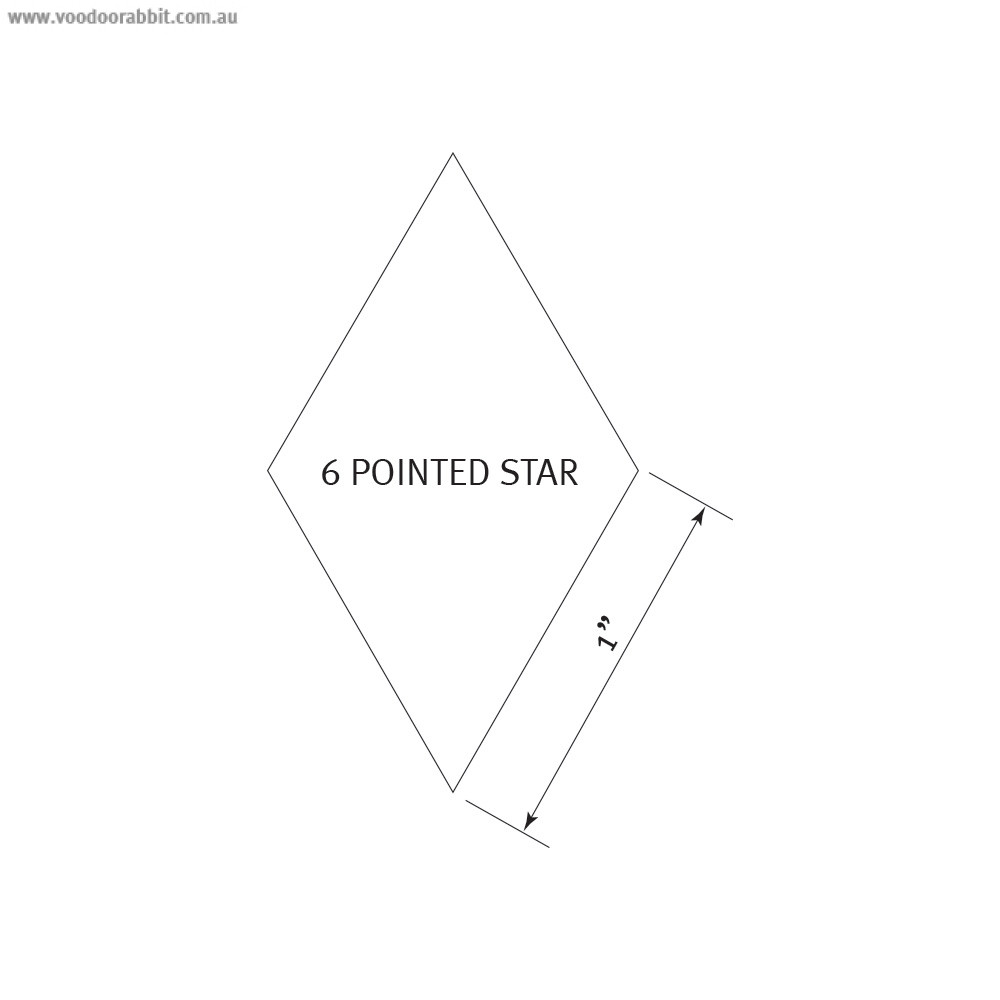 """English Paper Piecing Pre-cut Papers - 6 Pointed Star 1"""" - 100pk"""