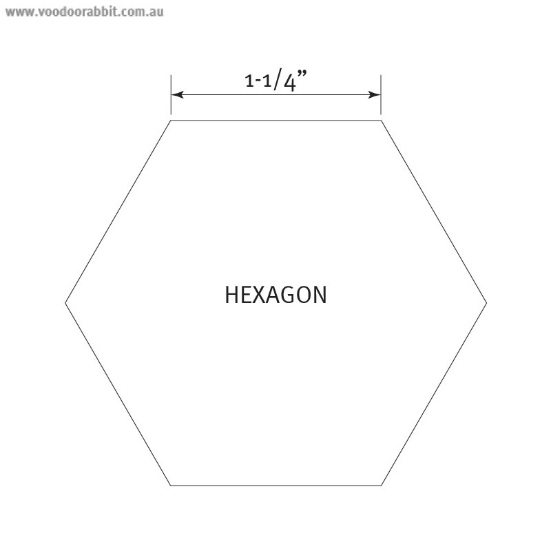 """English Paper Piecing Pre-cut Papers - Hexagon 1-1/4"""" - 100pk"""