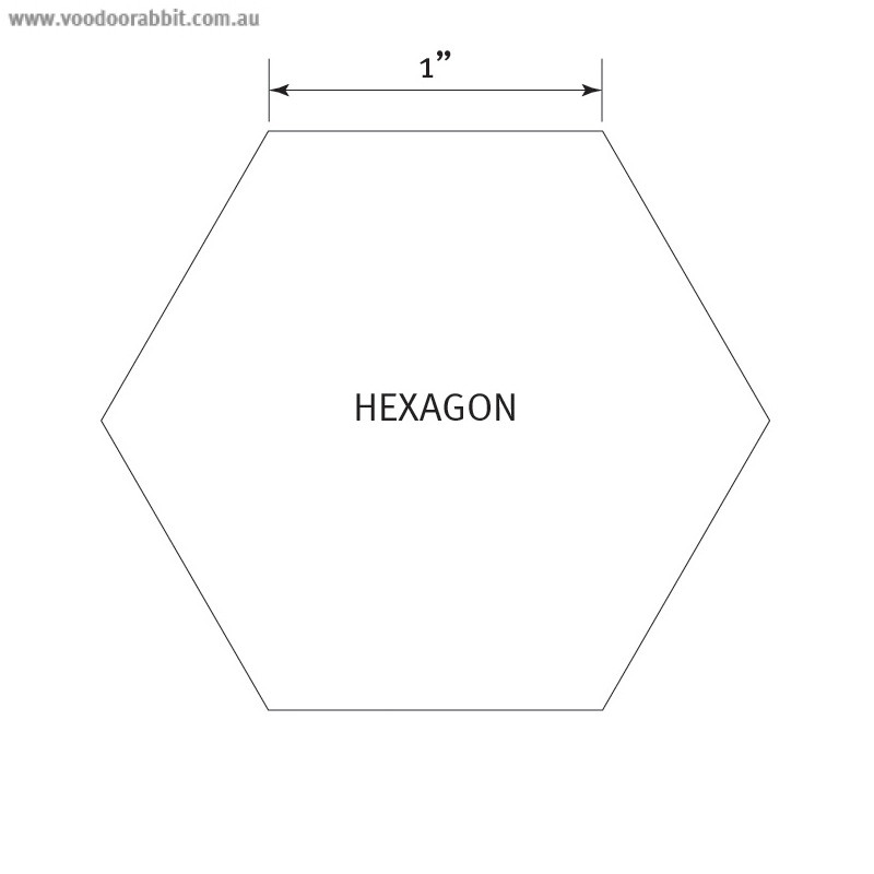 "English Paper Piecing Pre-cut Papers - Hexagon 1"" - 100pk"