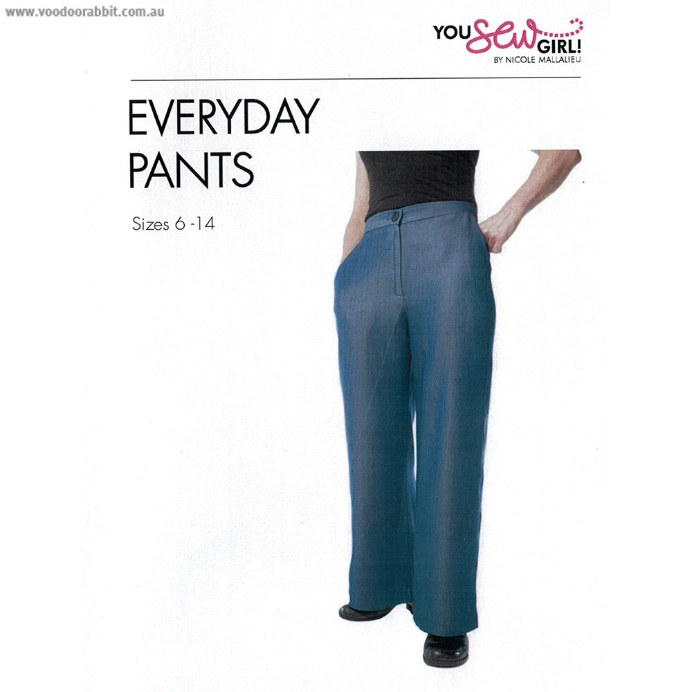 Everyday Pants Sewing Pattern by You Sew Girl