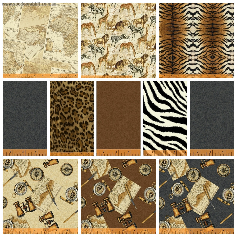 Expedition 11 piece Fat Quarter Pack by Windham Fabrics