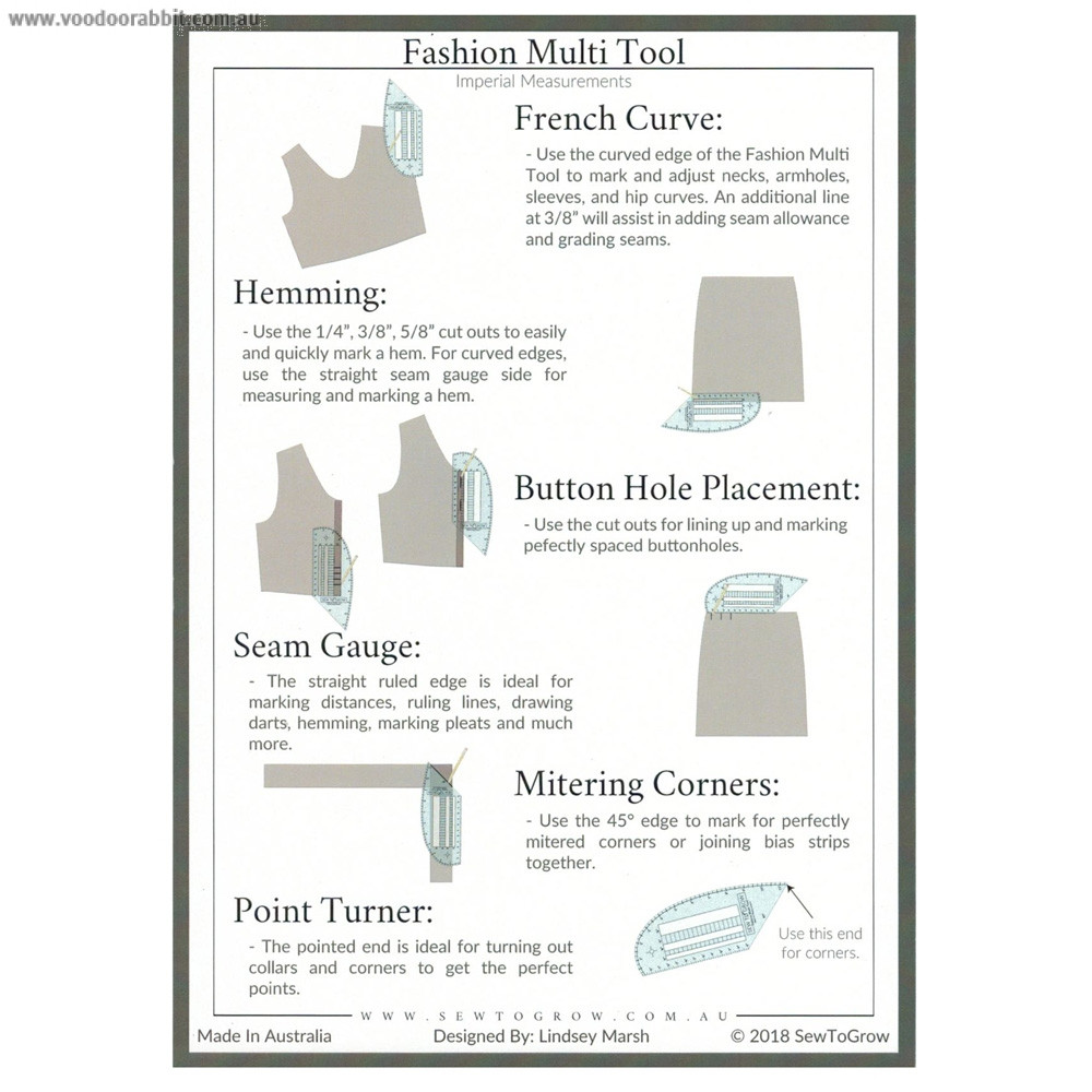 Fashion Multi Tool by Sew To Grow