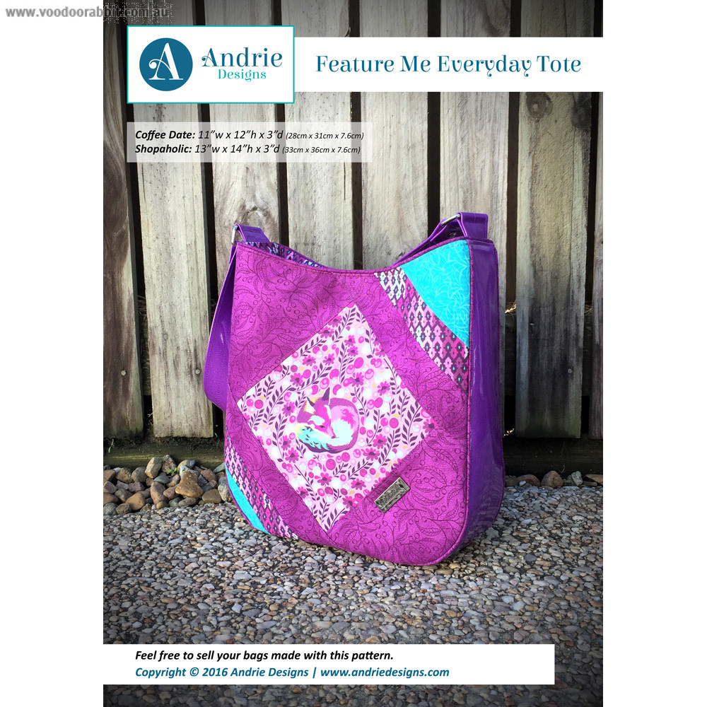 Feature me everyday tote sewing pattern by two pretty poppets feature me everyday tote sewing pattern by two pretty poppets alternative cool funky online fabric shop bag hardware sewing patterns brisbane australia jeuxipadfo Images