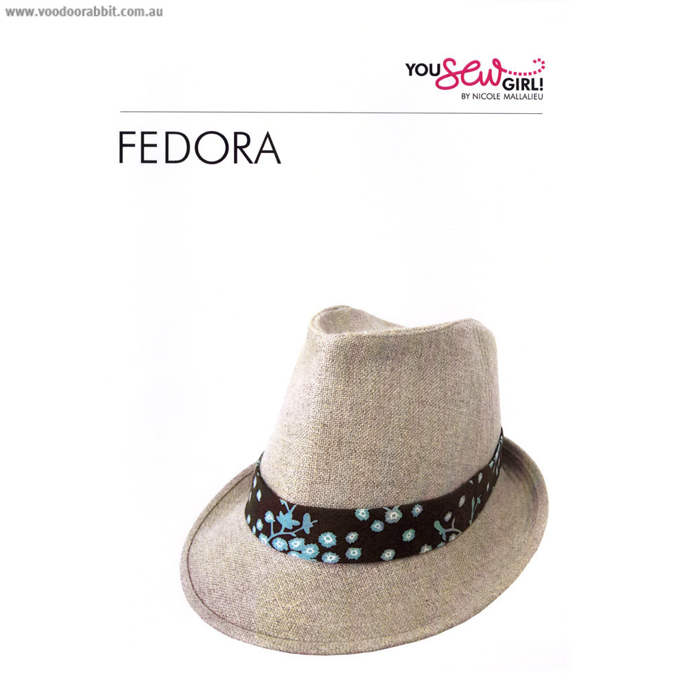 You Sew Girl Fedora Hat Sewing Pattern  6aee5353dbb