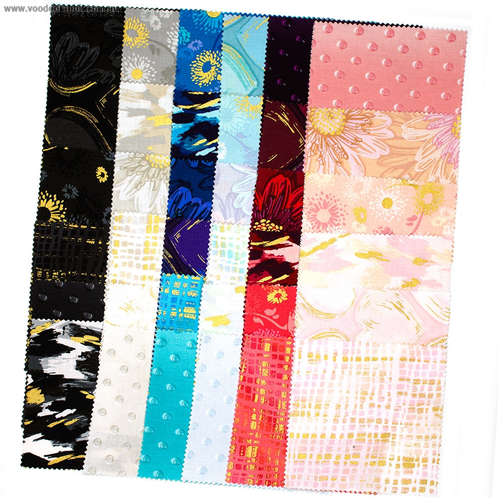 """Shiny Objects Good As Gold 5"""" Stacker 42pc by RJR Fabrics"""