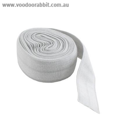 """byAnnie Fold-over Nylon elastic 15mm (5/8"""") wide x 1.8m (2yd) Grey"""