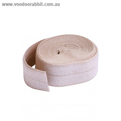 """byAnnie Fold-over Nylon elastic 20mm (3/4"""") wide Natural"""