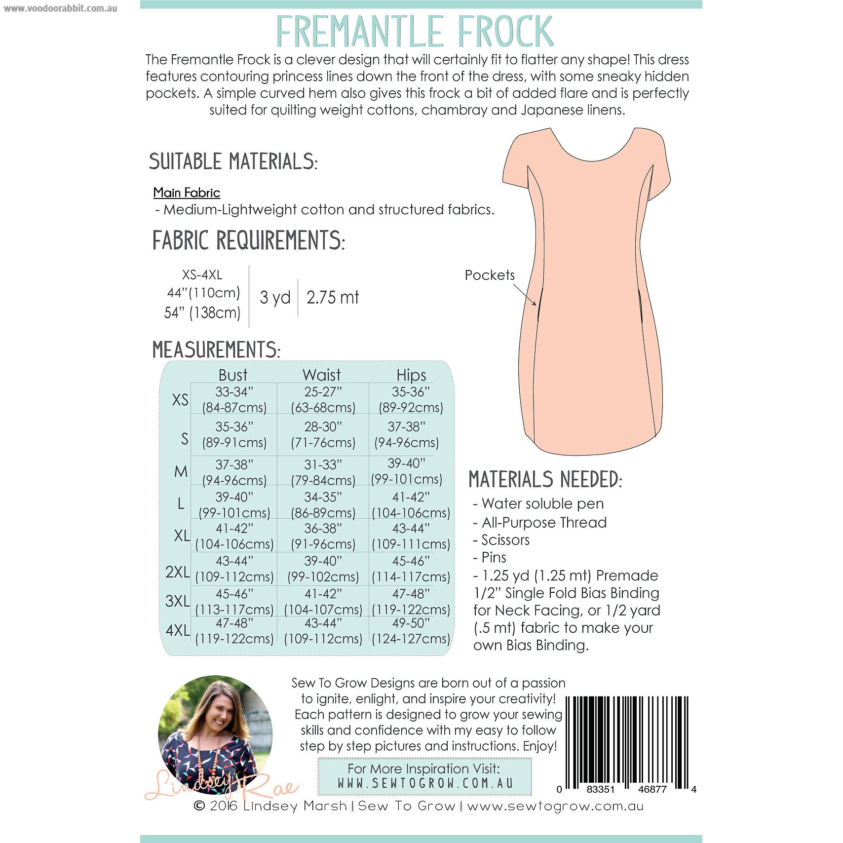 Fremantle Frock Dress Sewing Pattern by Sew To Grow