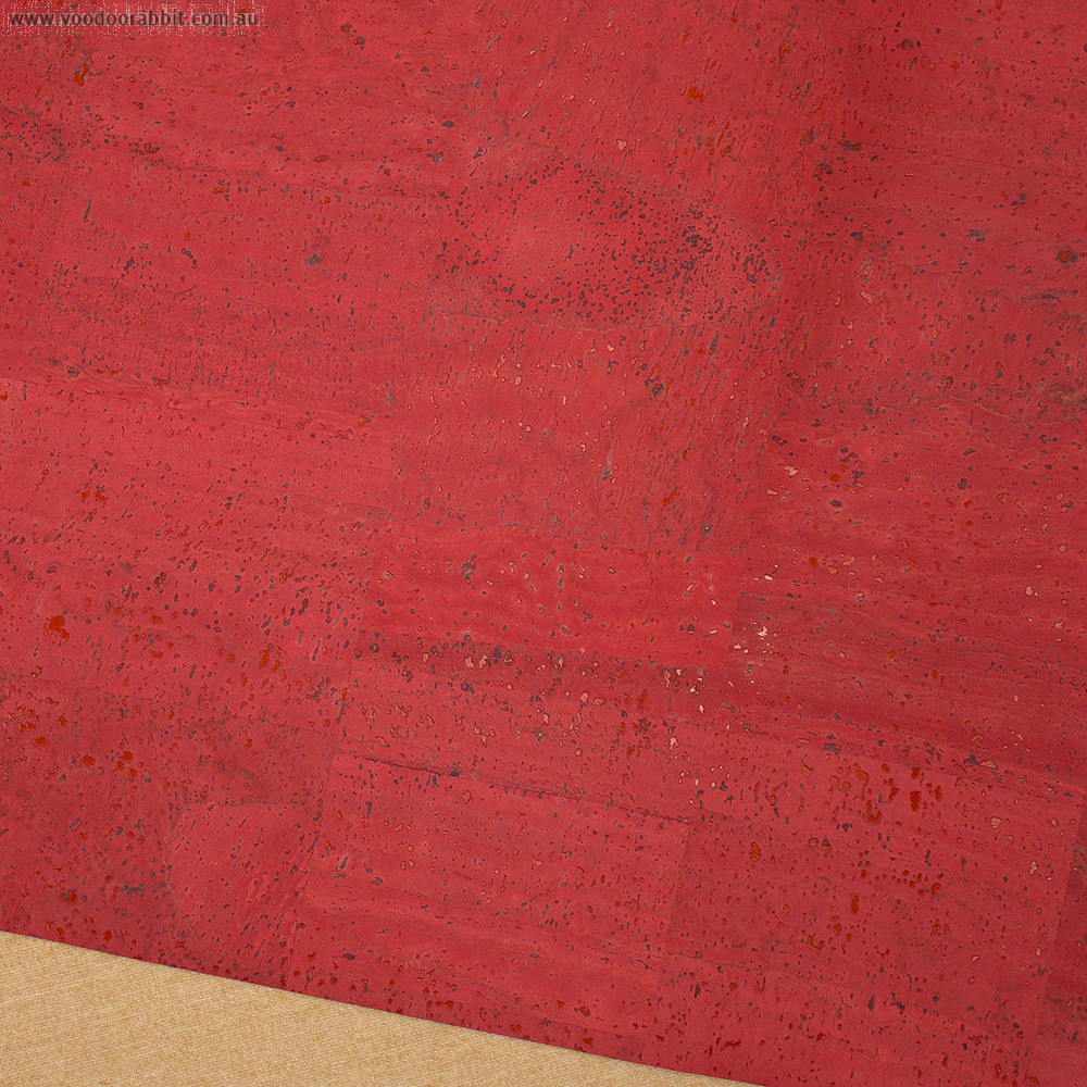 """Portuguese Surface Cork Living Coral - Sizing from 70cm x 50cm (27-1/2"""" x 19-1/2"""")"""