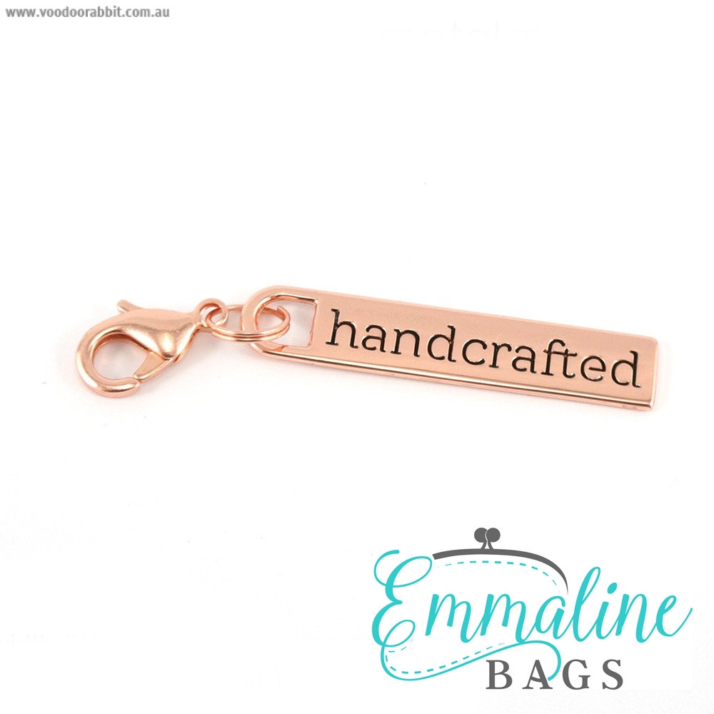 Emmaline Bags Zipper Pull: Handcrafted Copper