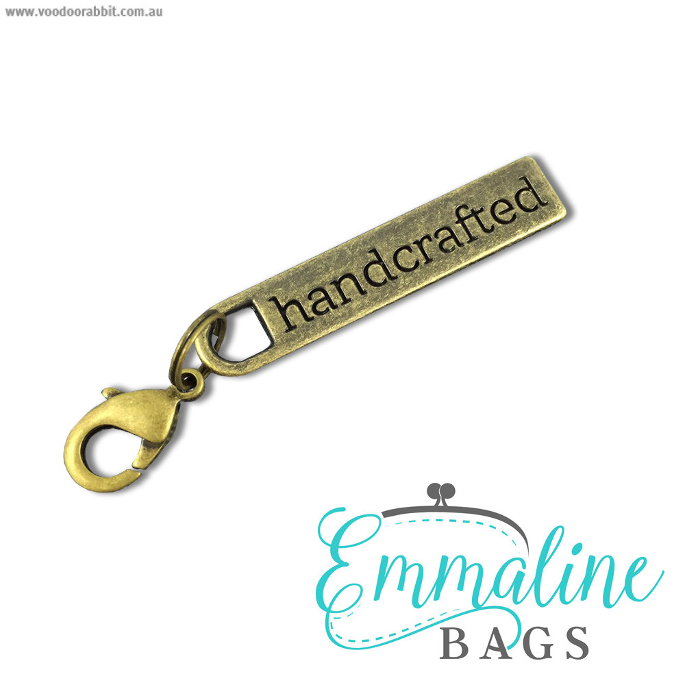 Emmaline Bags Zipper Pull: Handcrafted Antique Brass