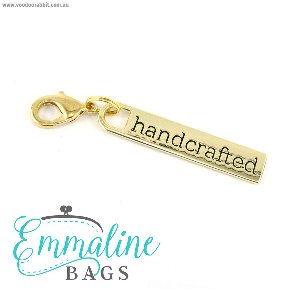 Emmaline Bags Zipper Pull: Handcrafted Gold
