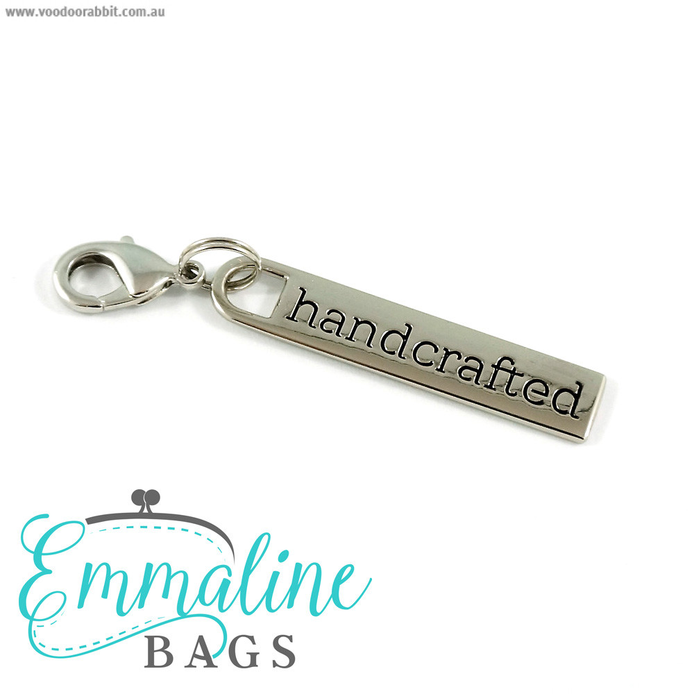 Emmaline Bags Zipper Pull: Handcrafted Silver