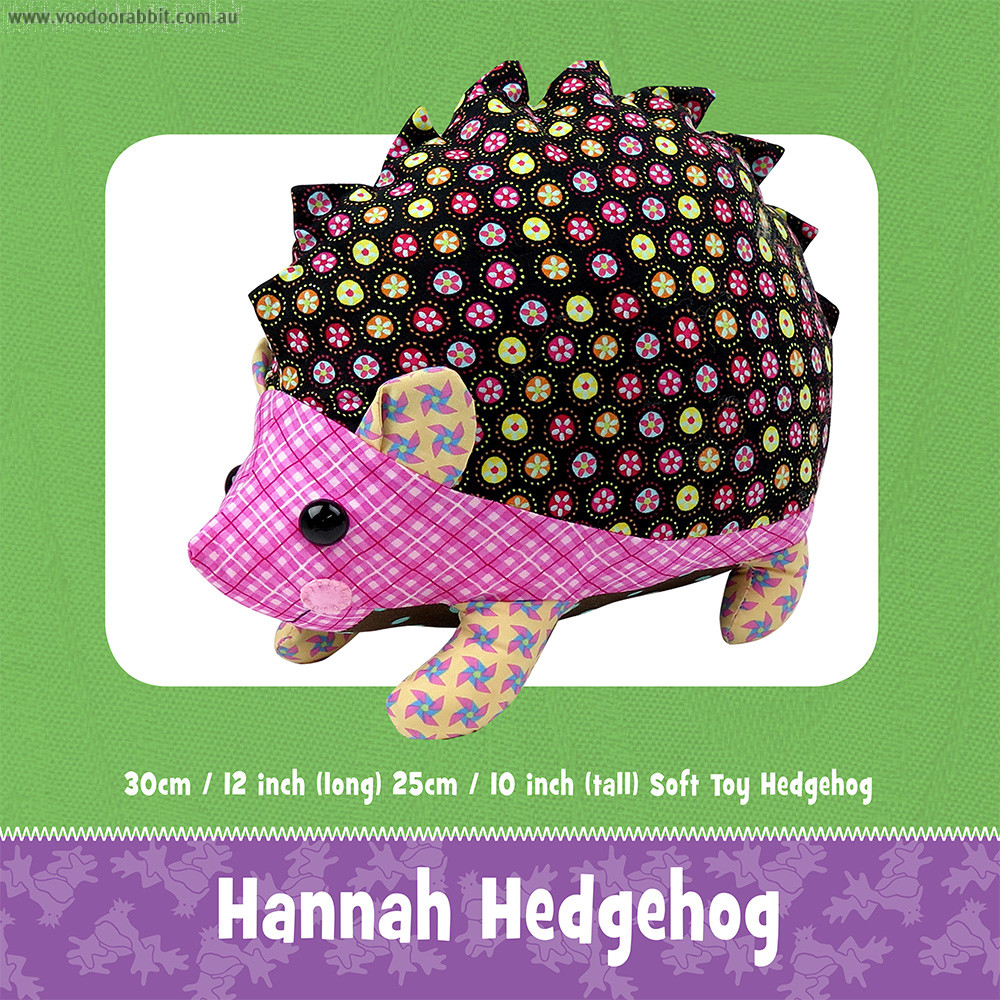 Hannah Hedgehog Soft Toy Pattern by Funky Friends Factory