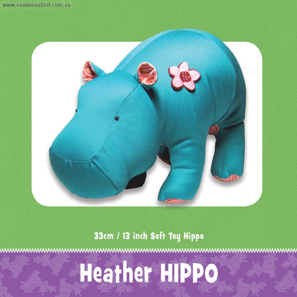 Heather Hippo Soft Toy Pattern by Funky Friends Factory