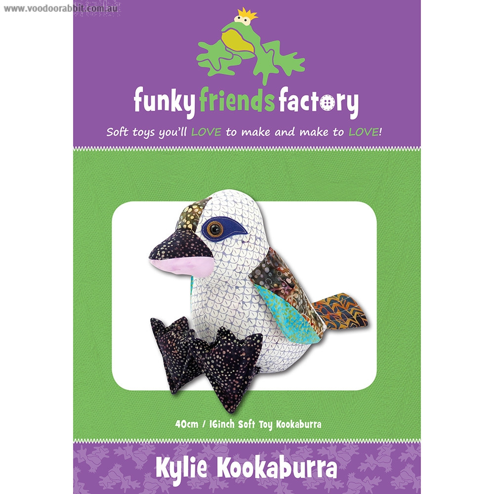 Kylie Kookaburra Soft Toy Sewing Pattern by Funky Friends Factory