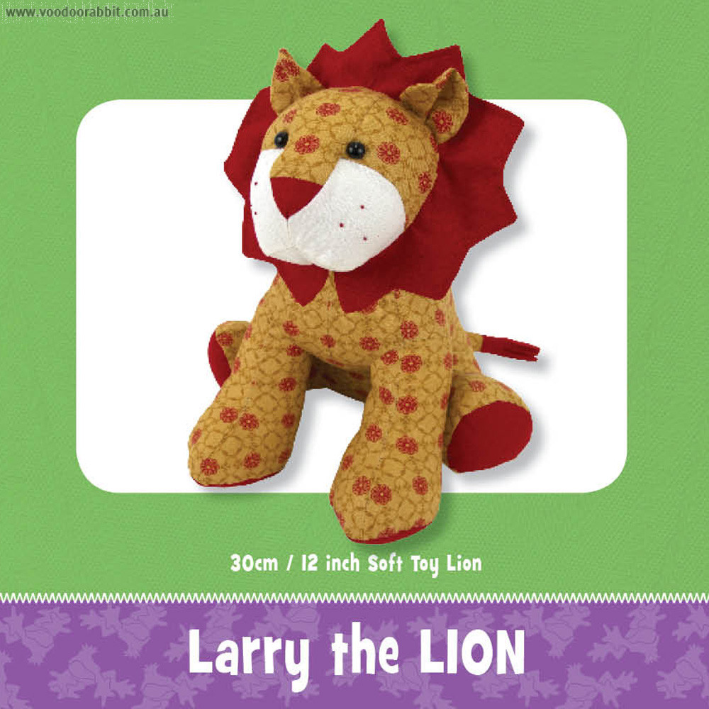 Larry the lion soft toy sewing pattern alternative cool funky larry the lion soft toy sewing pattern alternative cool funky online fabric shop bag hardware sewing patterns brisbane australia jeuxipadfo Images
