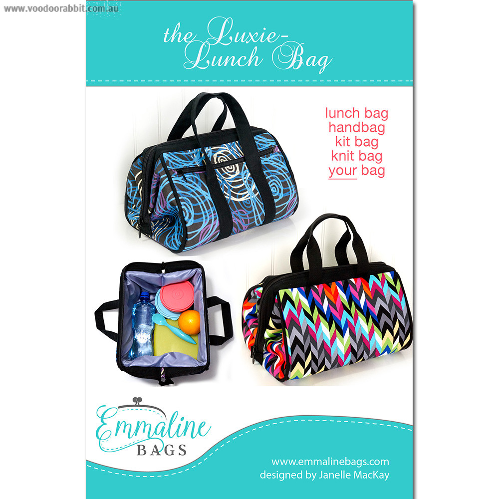Emmaline Bags - The Luxie Lunch Bag Sewing Pattern | Alternative ...