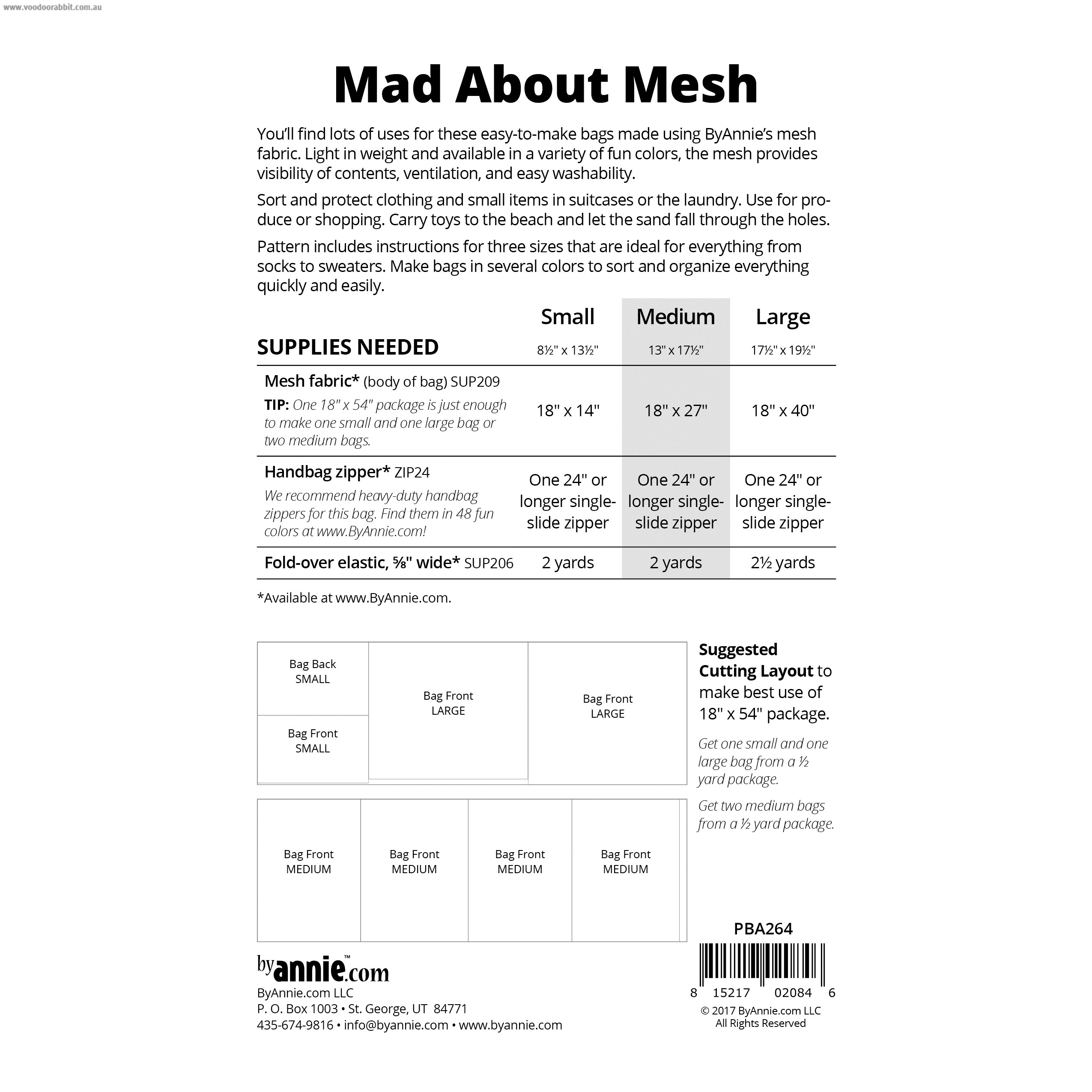 Mad About Mesh Sewing Pattern from byAnnie