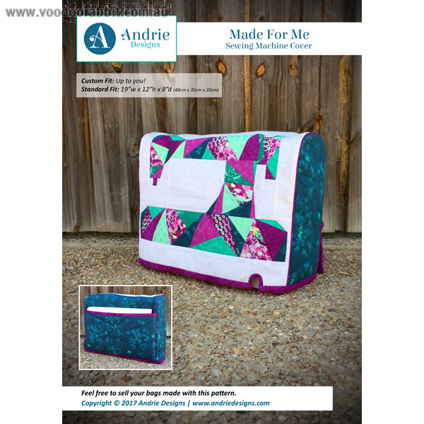 Made For Me Sewing Machine Cover Sewing Pattern by Andrie Designs ...