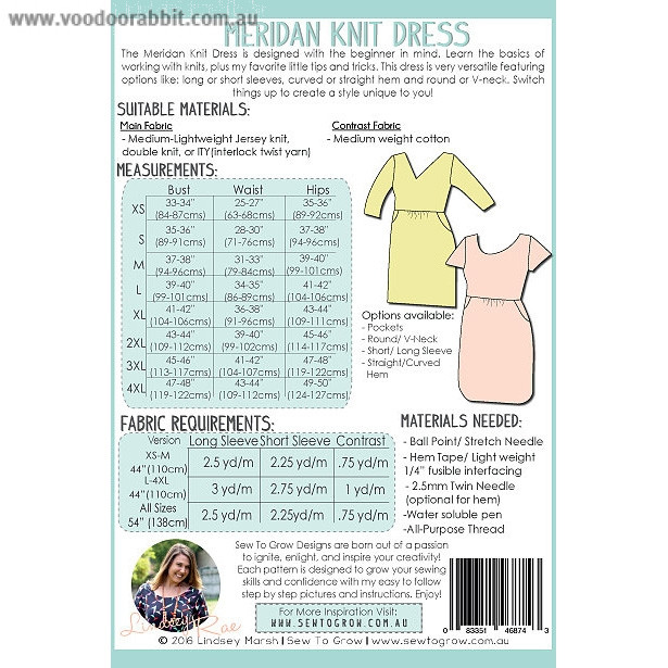 Meridan Knit Dress Sewing Pattern by Sew To Grow | Alternative cool ...