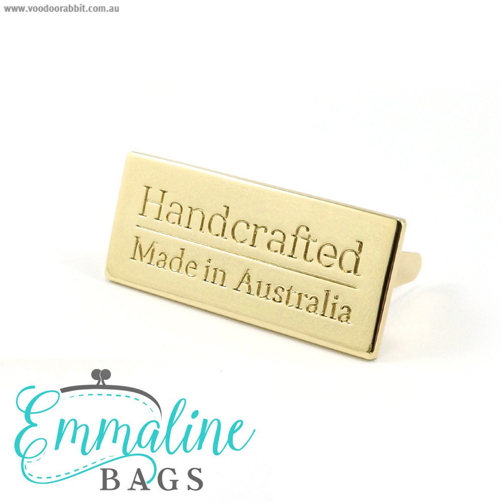 Emmaline Bags Metal Bag Label Handcrafted Made In