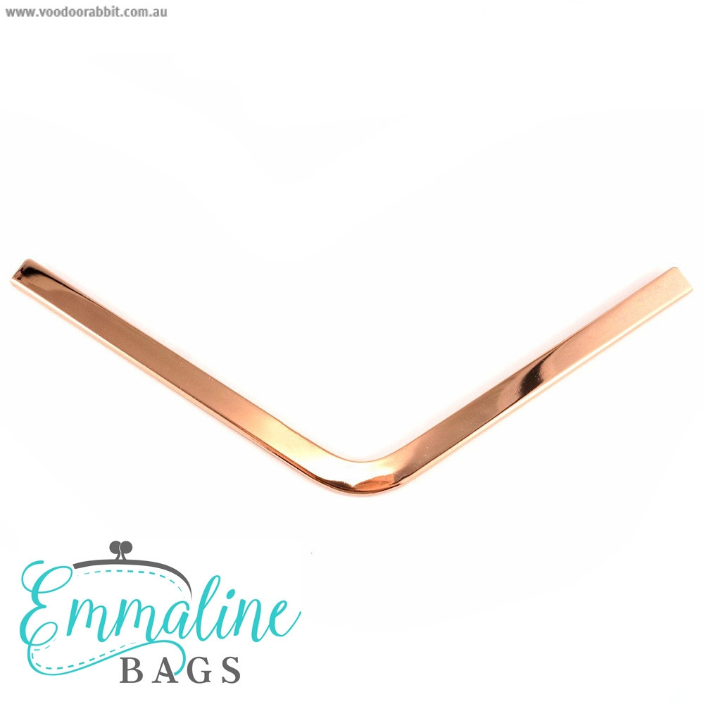 Emmaline Bags Metal Edge Trim: Style A - Large Pointed Copper (Rose Gold)