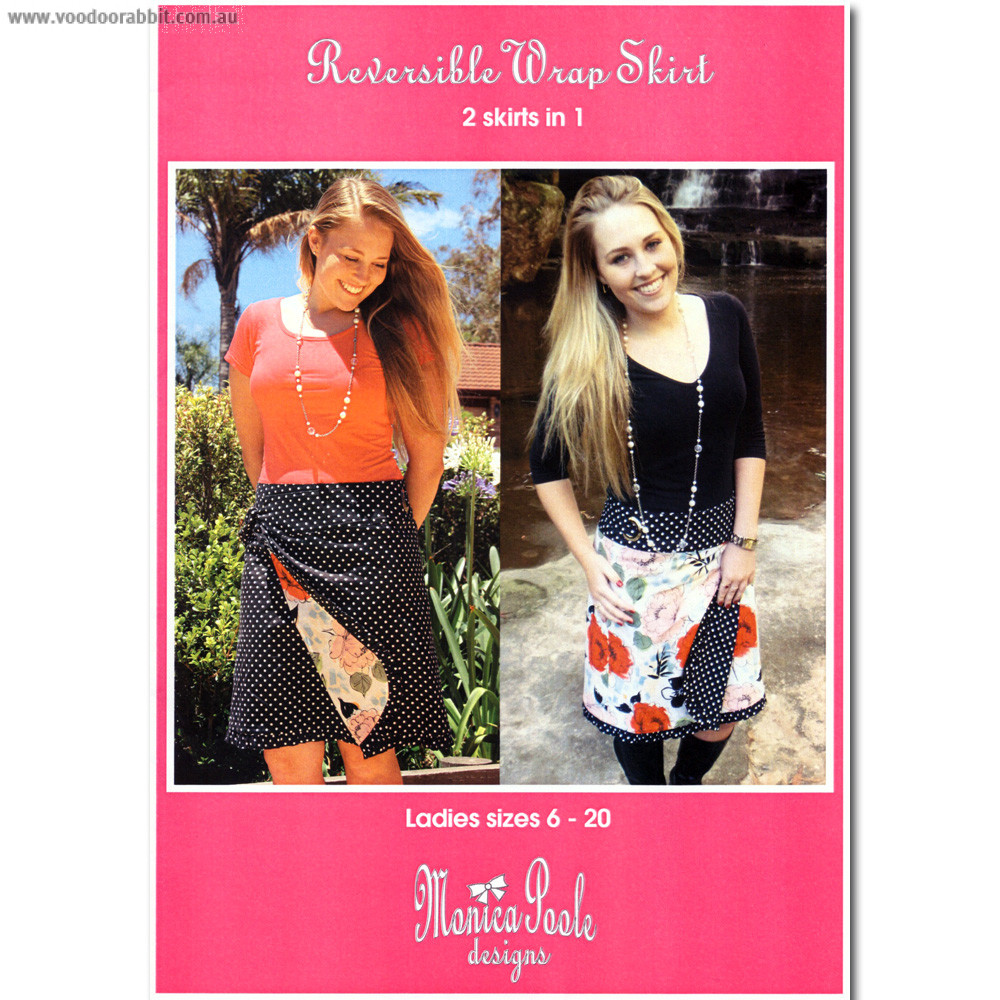Monica Poole - Moonshine Design Ladies Reversible Wrap Skirt Sewing Pattern