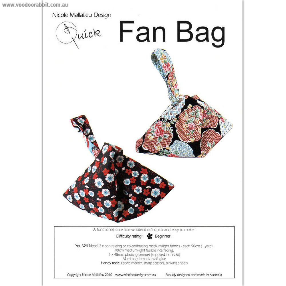 Fan Bag Pattern by You Sew Girl