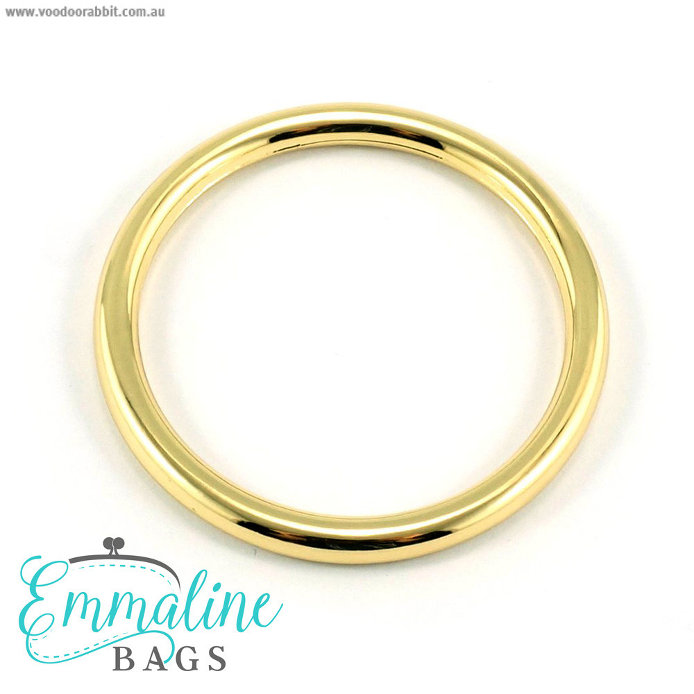 "Emmaline Bags Alloy O-Ring 40mm (1-1/2"") Gold - 4pk"