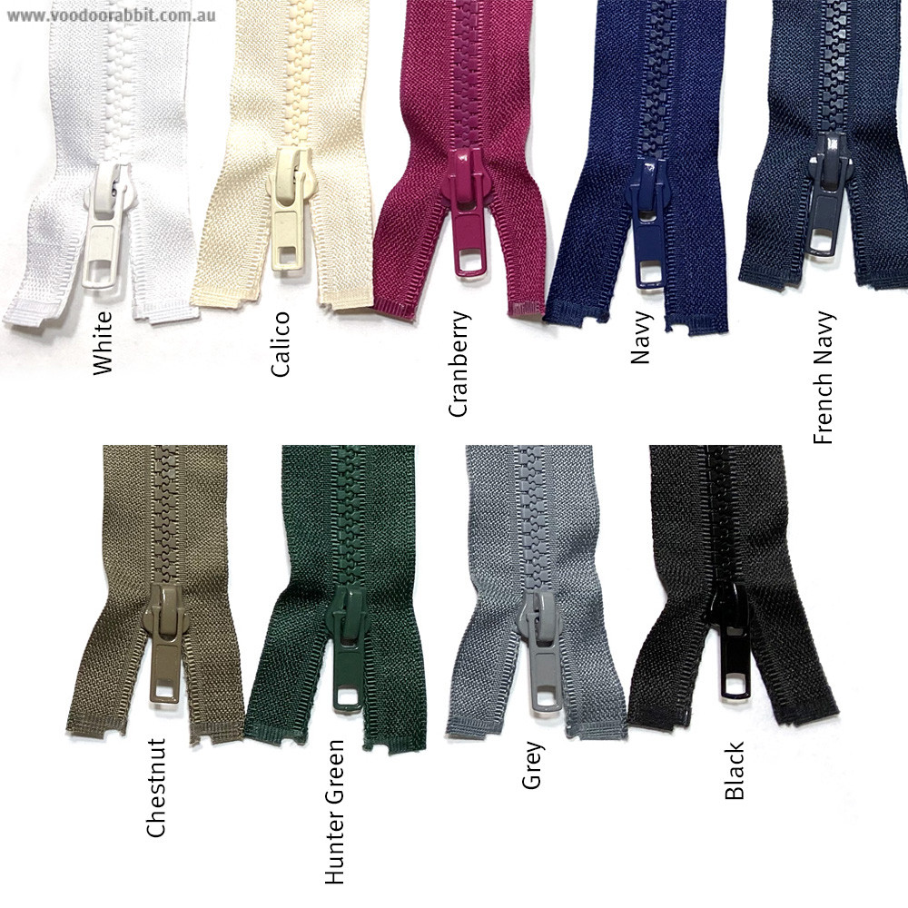 """Vizzy Chunky Open Ended Zip (Size #5) 25cm (10"""")"""