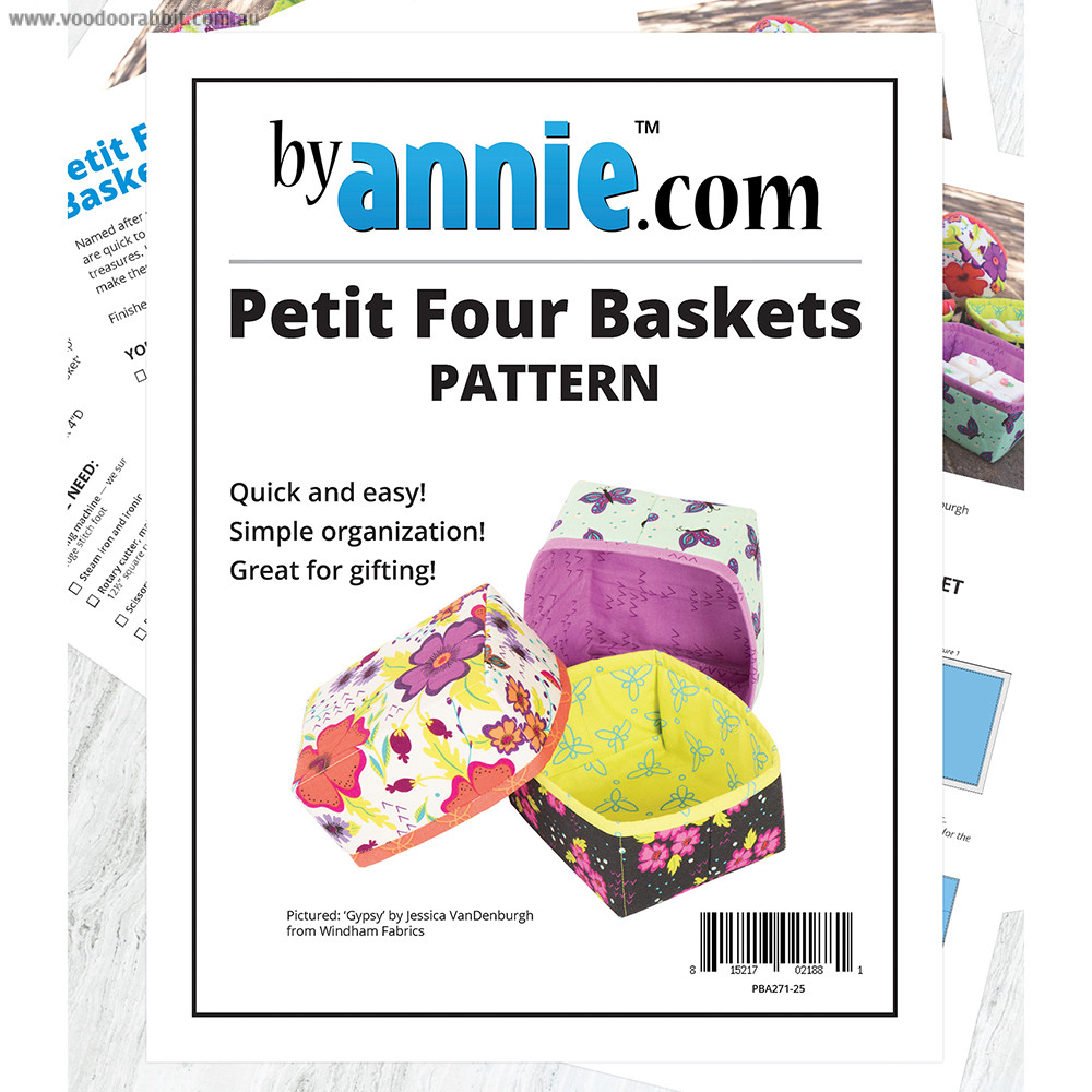 Petit Four Baskets Sewing Project Sheet By ByAnnie