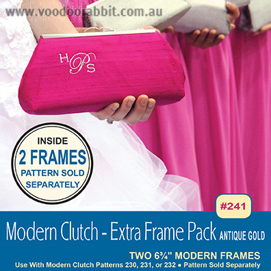 Modern Clutch Extra Frame Pack Antique Gold - 2 Pk