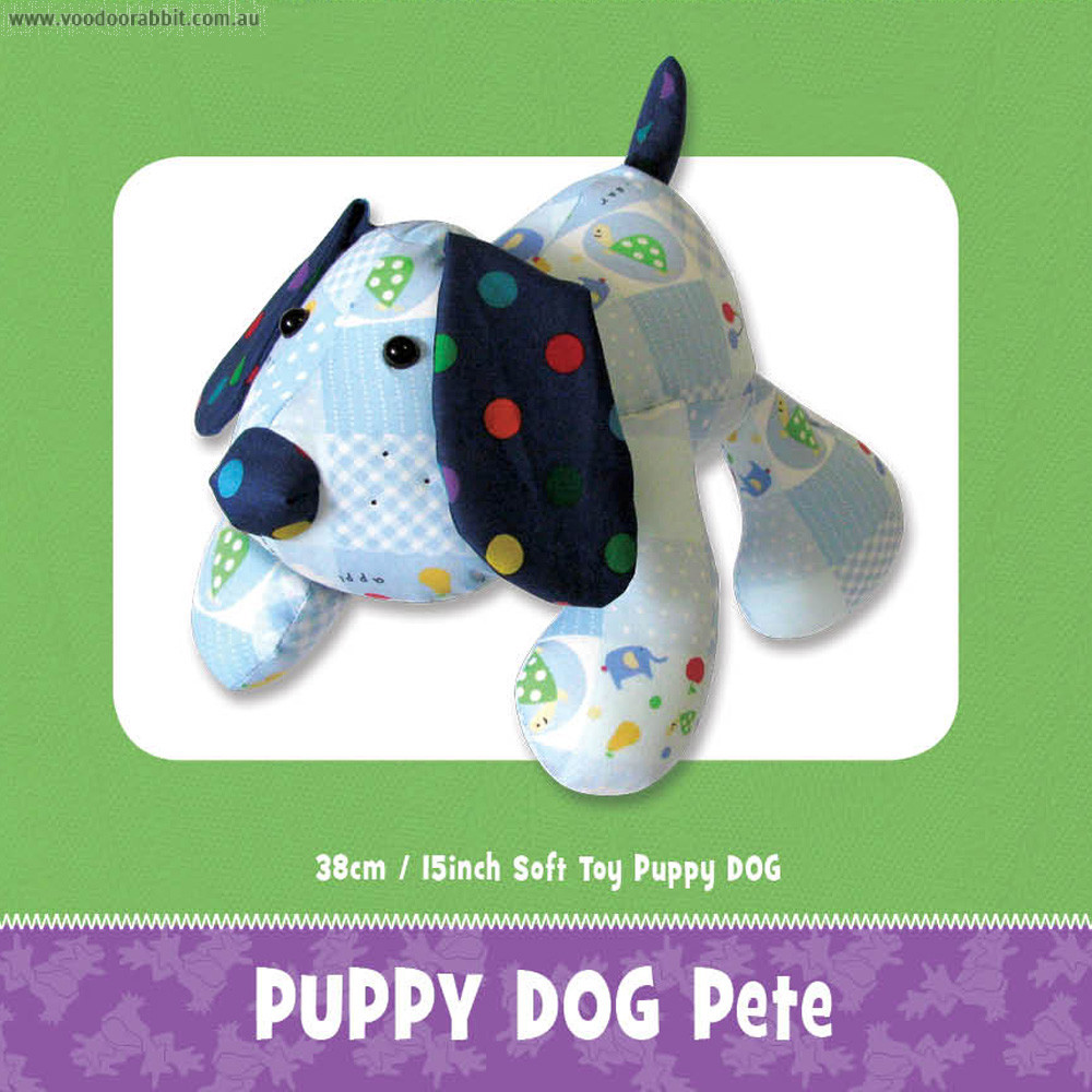 Puppy Pete Soft Toy Pattern by Funky Friends Factory
