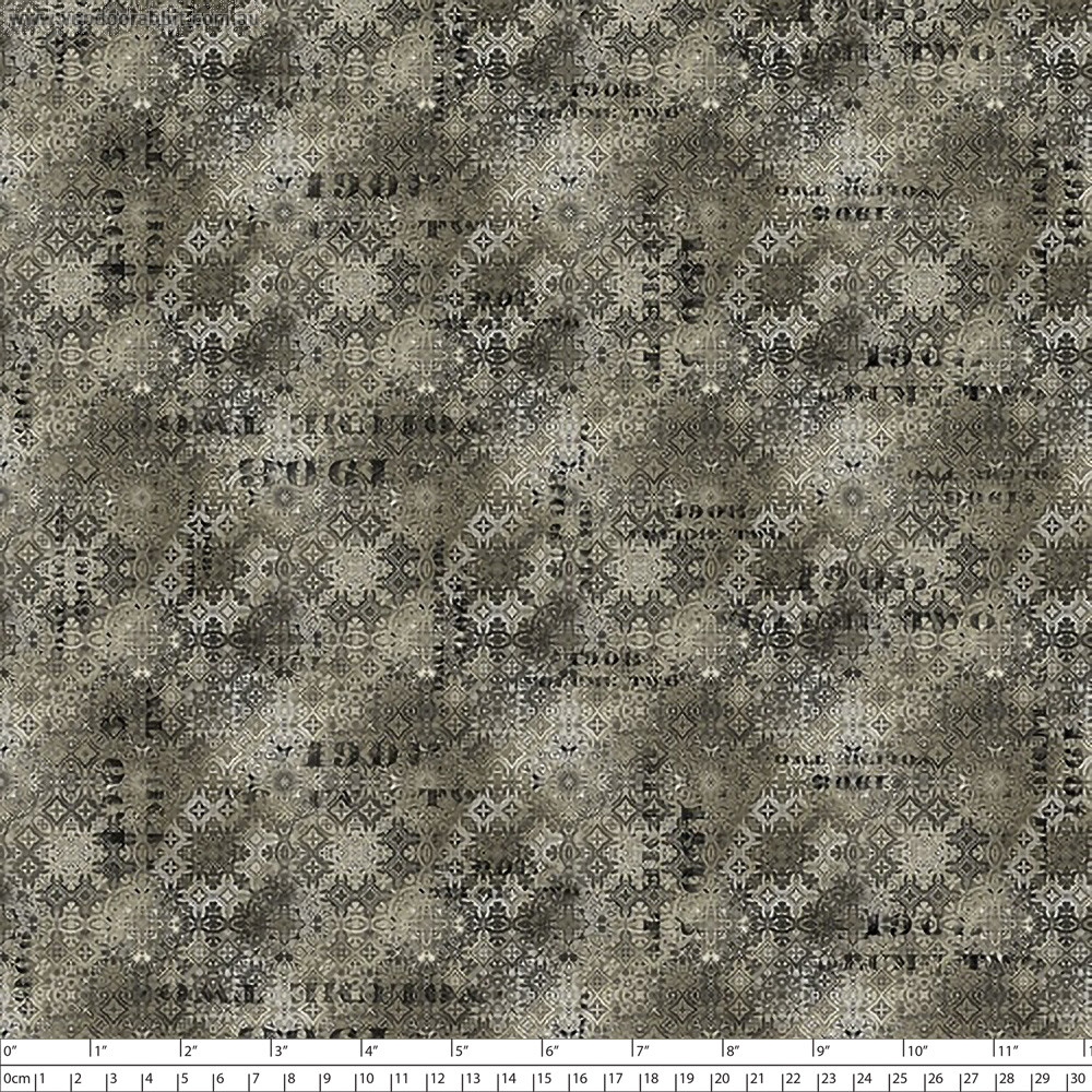 Tim Holtz Eclectic Elements Abandoned Faded Tile Neutral By Free Spirit Fabric