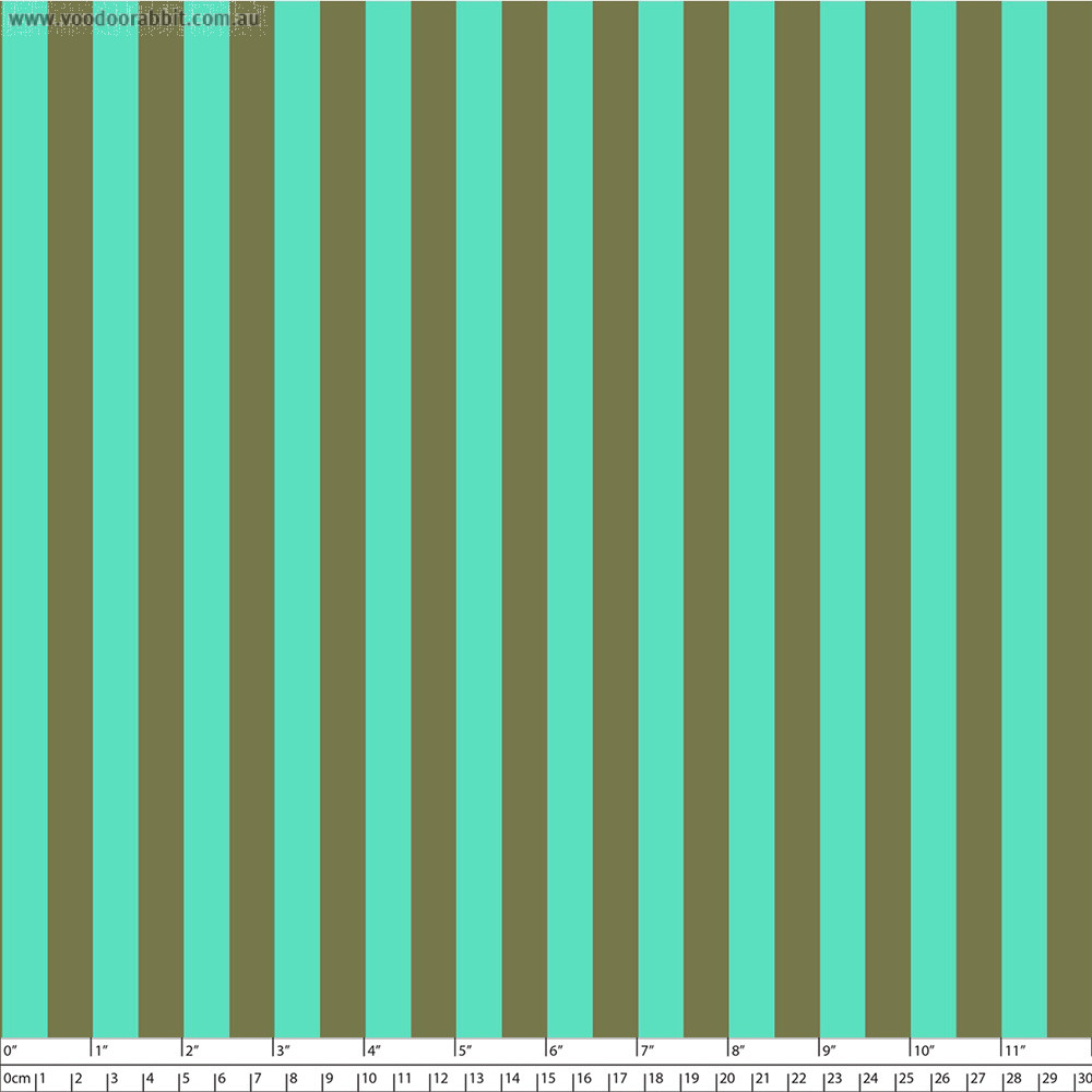 Tula Pink True Colors Tent Stripes Agave (Green and Aqua) By Free Spirit Fabric