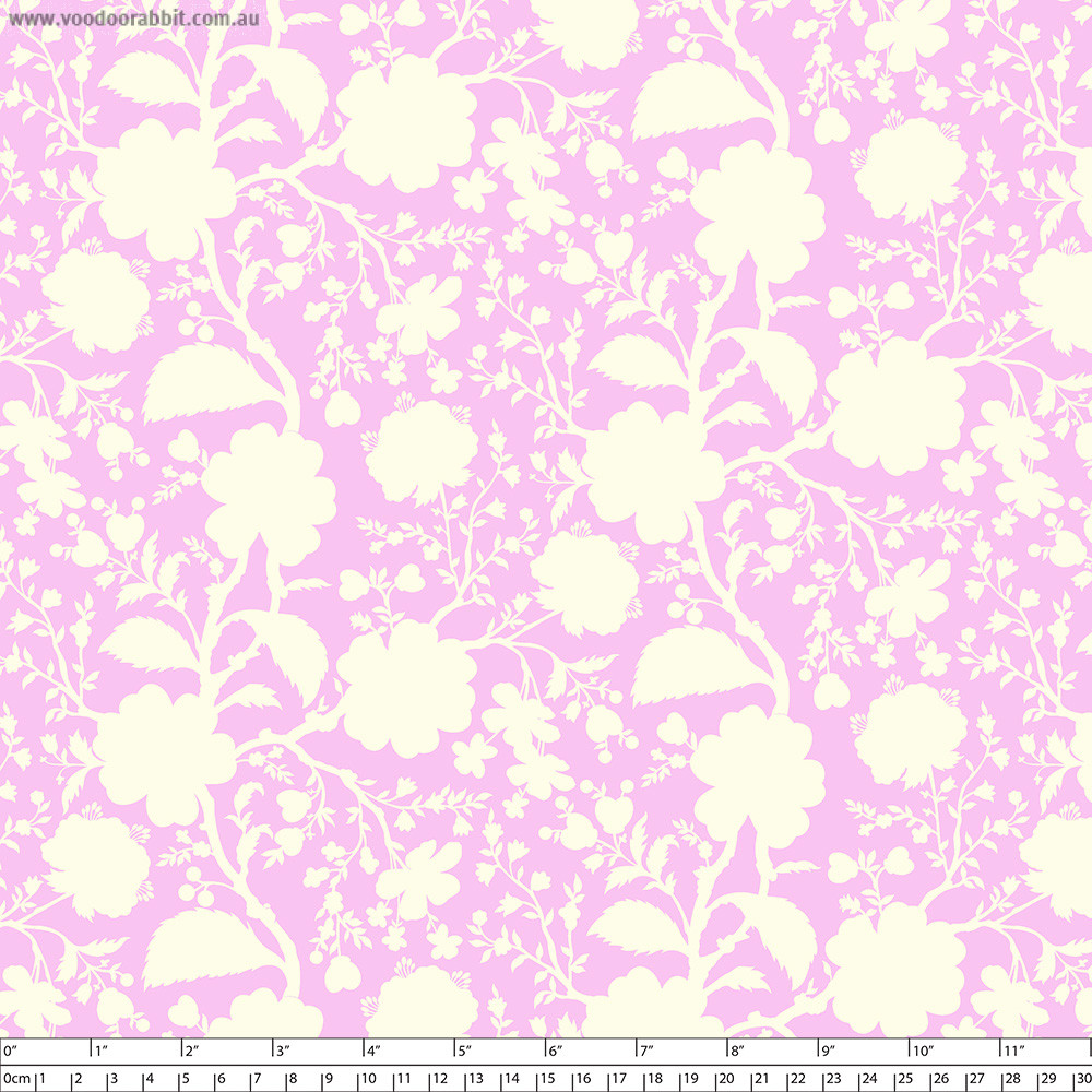 Tula Pink True Colors Wildflower Peony Cream/purple By Free Spirit Fabric