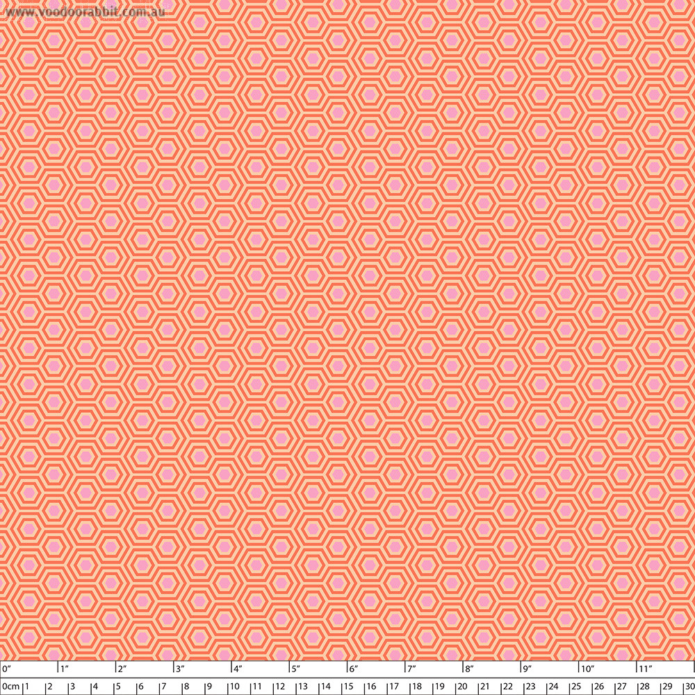 Tula Pink True Colors Hexy Peach Blossom By Free Spirit Fabric