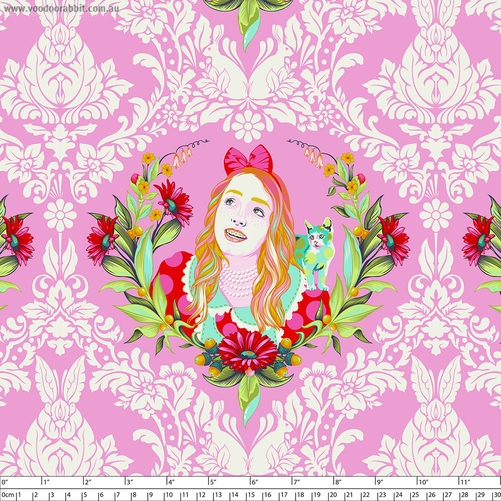 Tula Pink Curiouser and Curiouser Alice Wonder Pink By Free Spirit Fabric