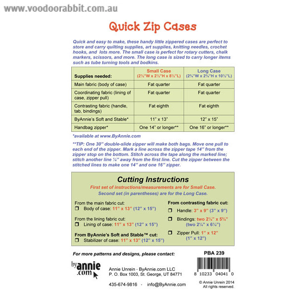 Quick Zip Cases Sewing Pattern From Byannie Alternative Cool Funky