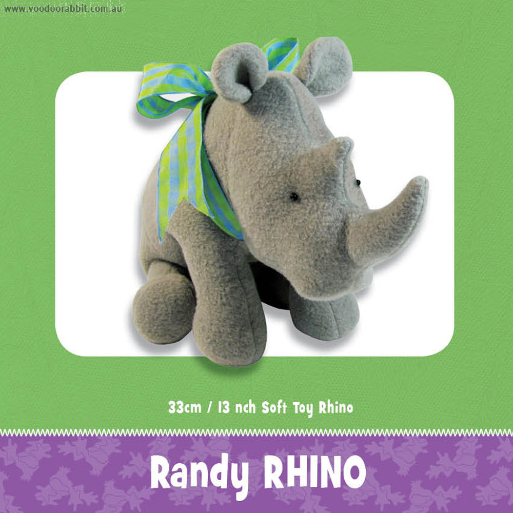 Randy Rhino Soft Toy Pattern by Funky Friends Factory