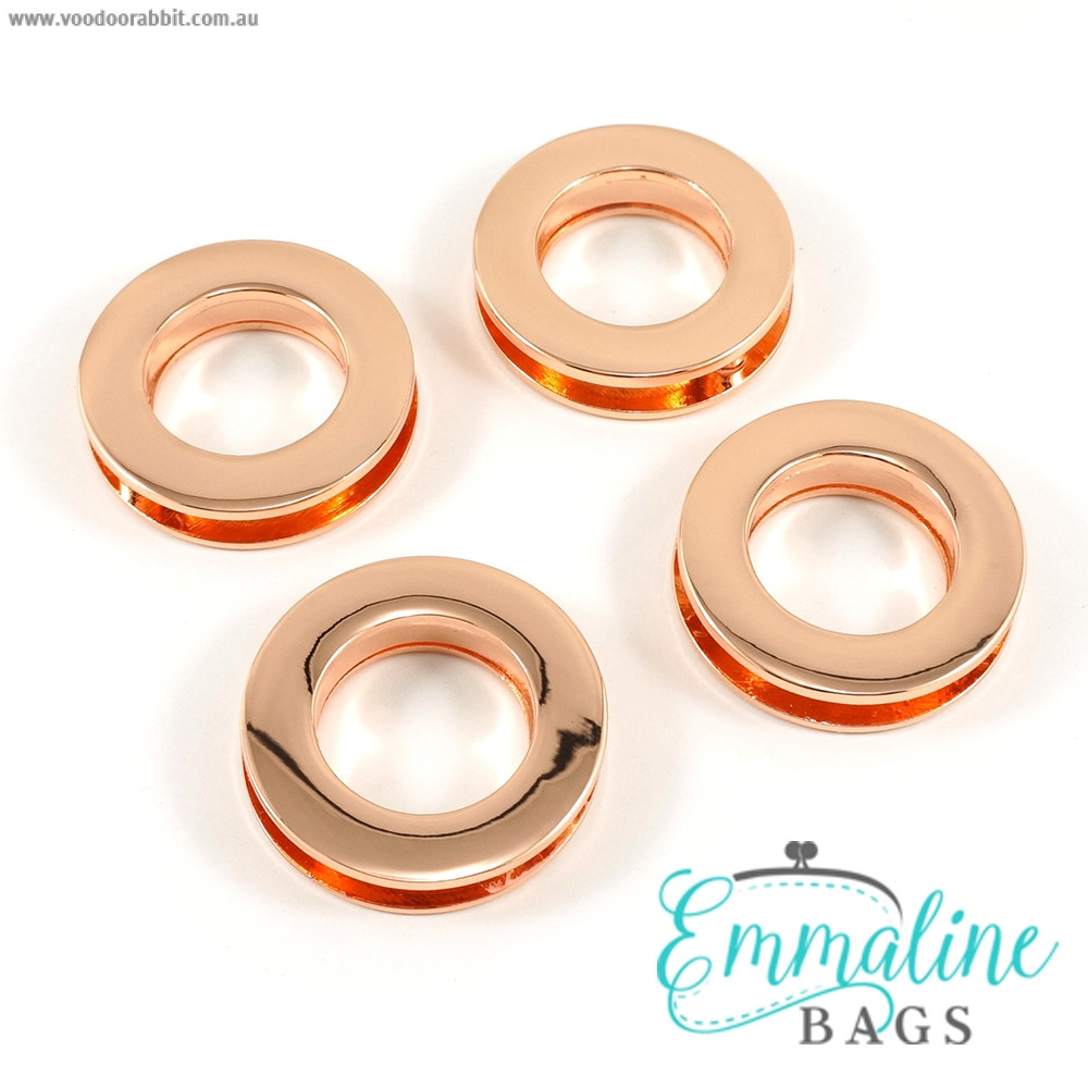"""Emmaline Bags Screw Together Grommets 20mm (3/4"""") Round in Copper - 4pk"""