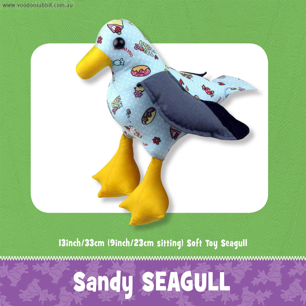 Sandy Seagull Toy Pattern